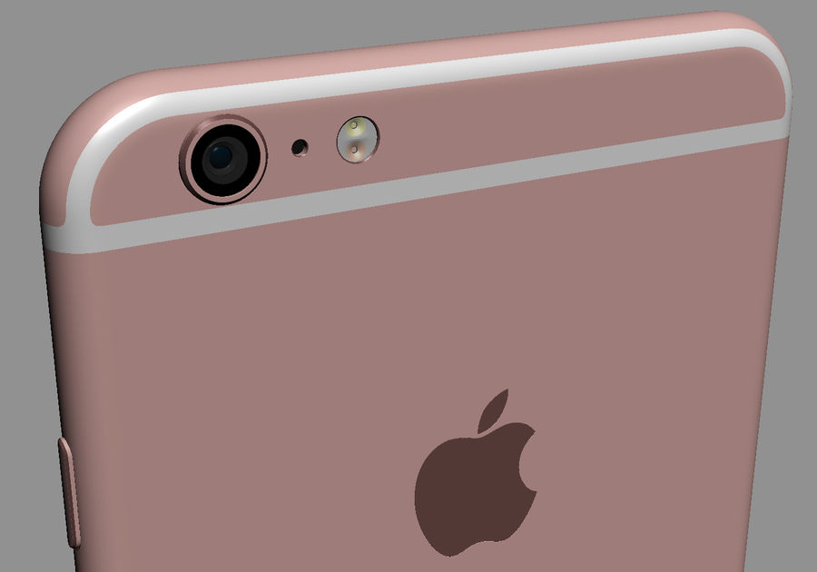 iPhone 6S i iPhone 6S Plus royalty-free 3d model - Preview no. 28