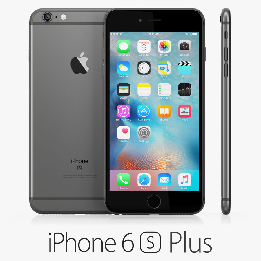 iPhone 6S i iPhone 6S Plus royalty-free 3d model - Preview no. 20