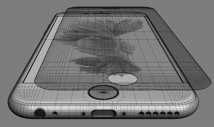 iPhone 6S i iPhone 6S Plus royalty-free 3d model - Preview no. 11