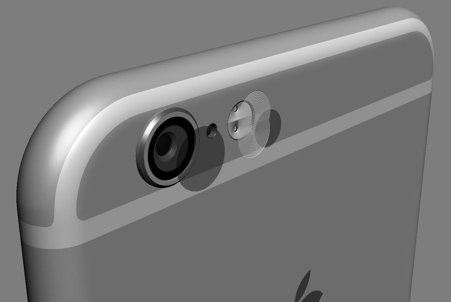 iPhone 6S i iPhone 6S Plus royalty-free 3d model - Preview no. 14
