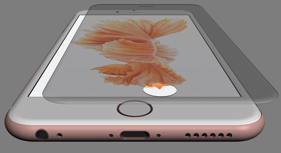 iPhone 6S i iPhone 6S Plus royalty-free 3d model - Preview no. 26