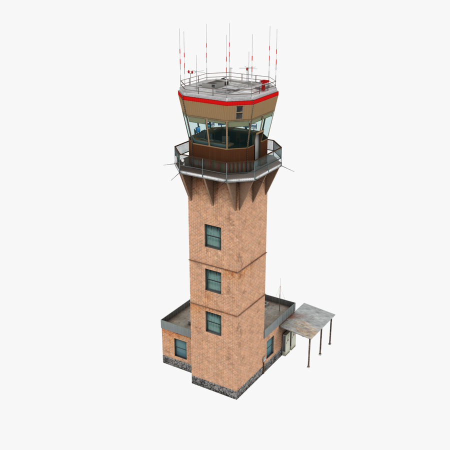 Air Traffic Tower royalty-free 3d model - Preview no. 1