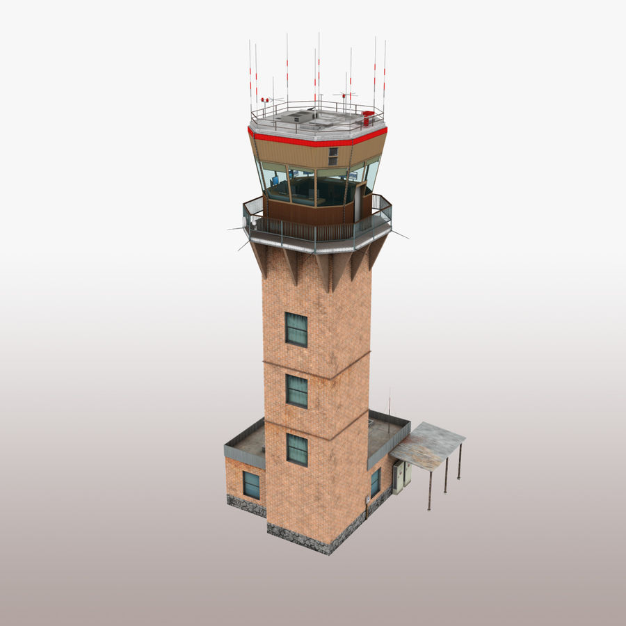Air Traffic Tower royalty-free 3d model - Preview no. 2