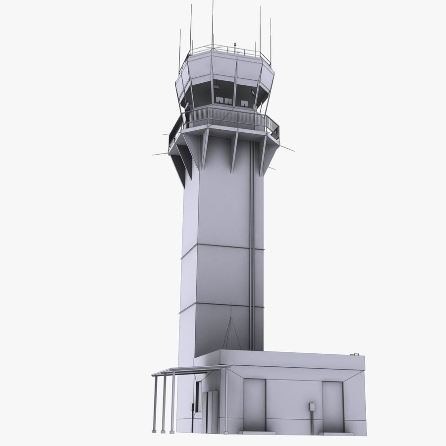 Air Traffic Tower royalty-free 3d model - Preview no. 12