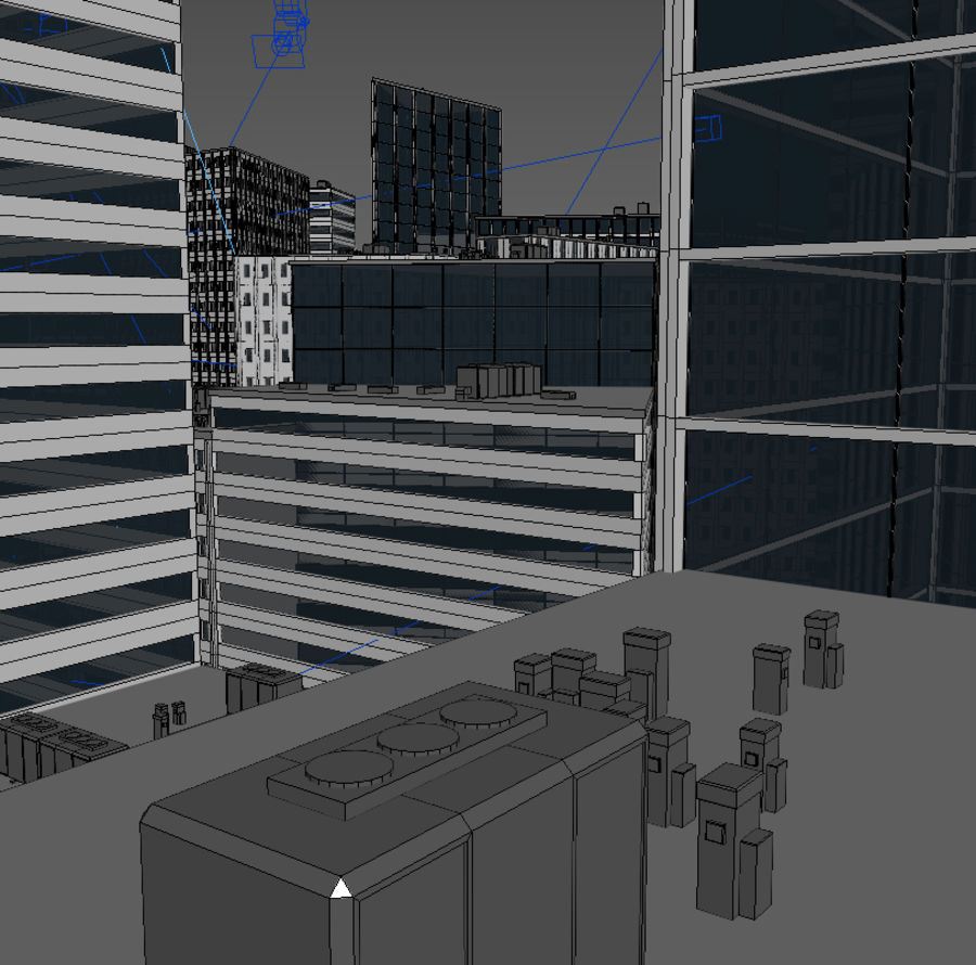 City midtown cityscape royalty-free 3d model - Preview no. 17