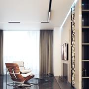 Salón interior del vestíbulo con chimenea modelo 3d
