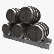 Botti di legno 3d model