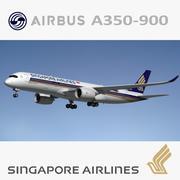 A350 900 XWB Singapore 3d model