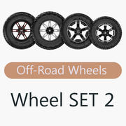 Off Road Wheel SET 2 3d model
