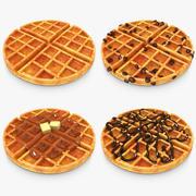 Waffle Set 3d model