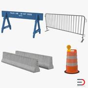 Дорожные барьеры 3D Models Collection 2 3d model