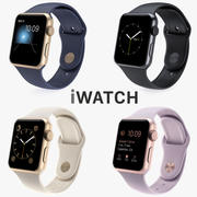 Collection Apple Watch 2015 3d model