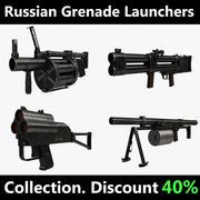 Russische granaatwerpers 3d model