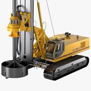 ロータリー掘削リグSER 30ドリル 3d model