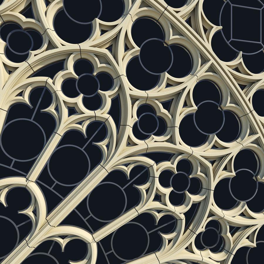 Notre Dame Katedrali Gotik Gül Penceresi royalty-free 3d model - Preview no. 4