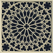 Notre Dame Cathedral Gothic Rose Window 3d model