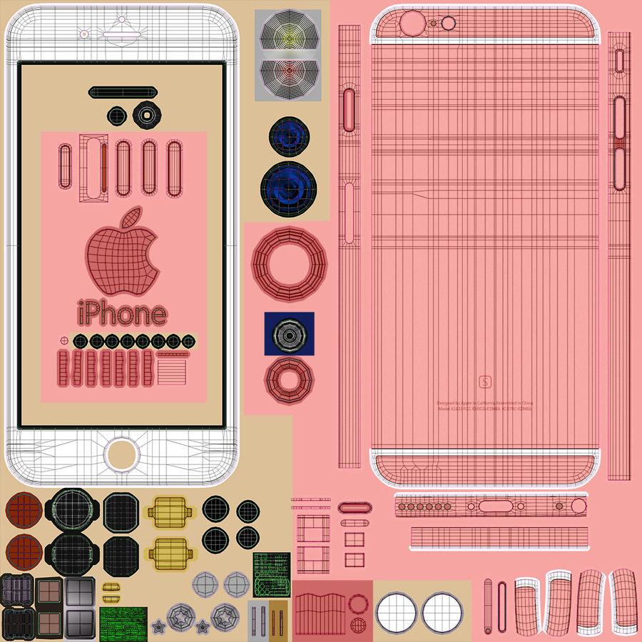 아이폰 6S 로즈 골드 royalty-free 3d model - Preview no. 30