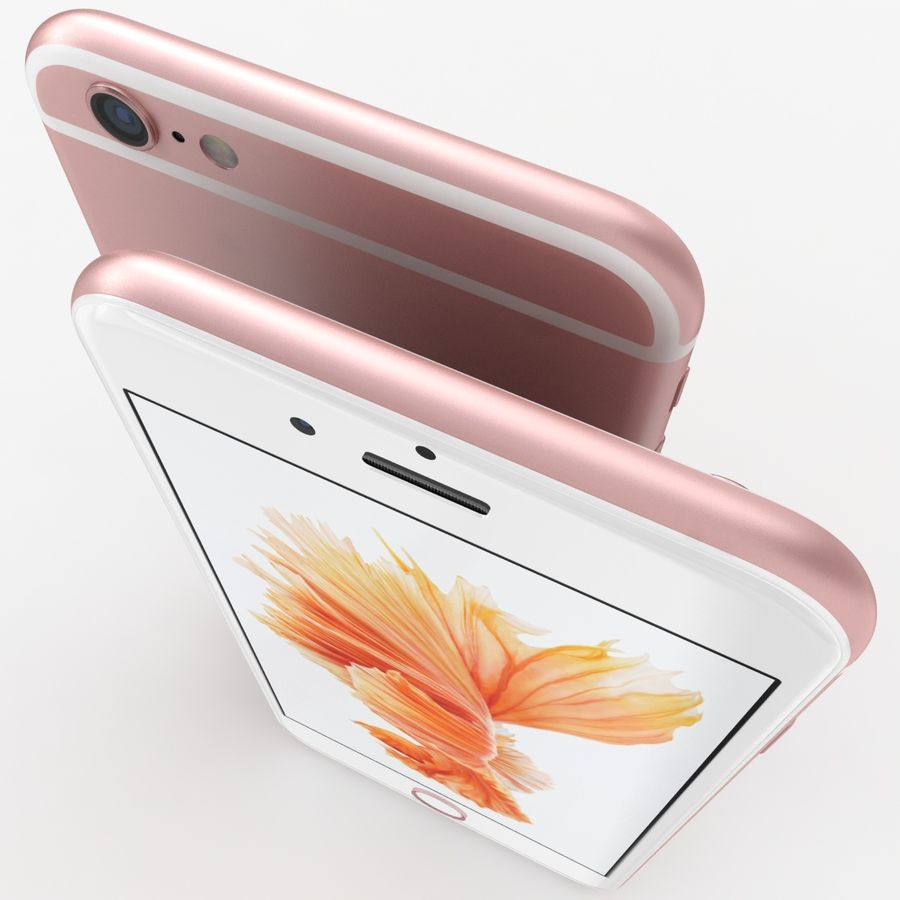 iPhone 6S Rose Gold royalty-free 3d model - Preview no. 7