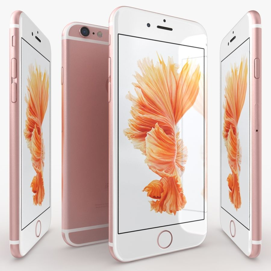 iPhone 6S Rose Gold royalty-free 3d model - Preview no. 3