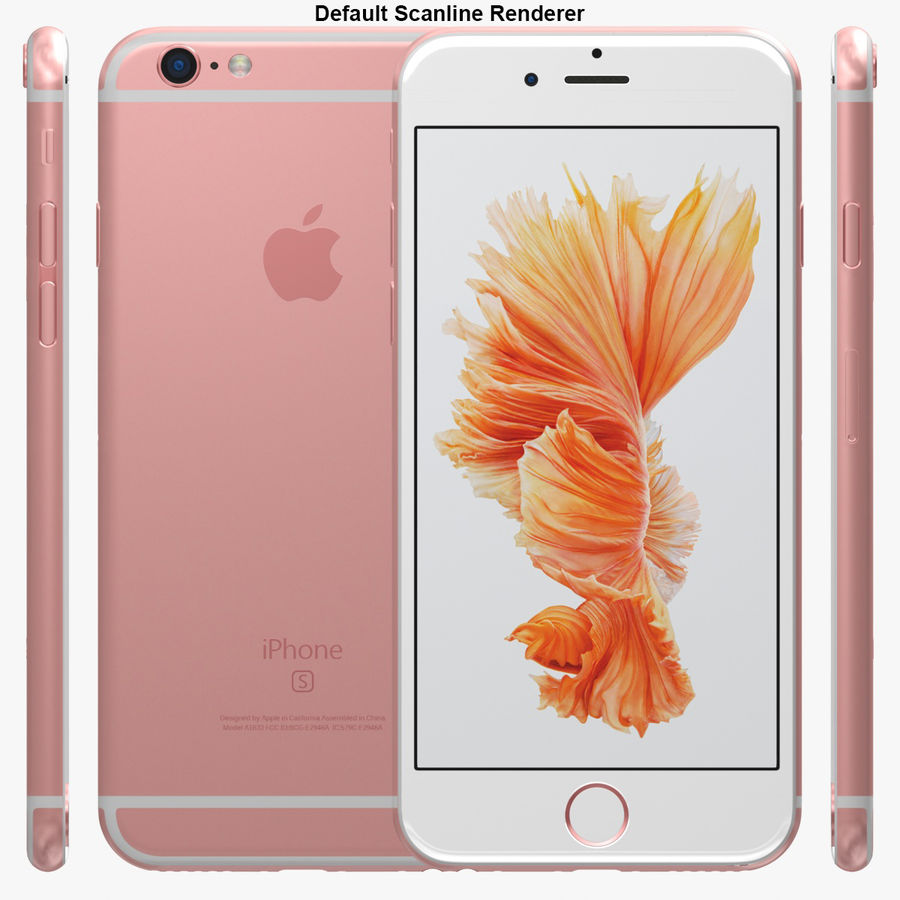 iPhone 6S Rose Gold royalty-free 3d model - Preview no. 29