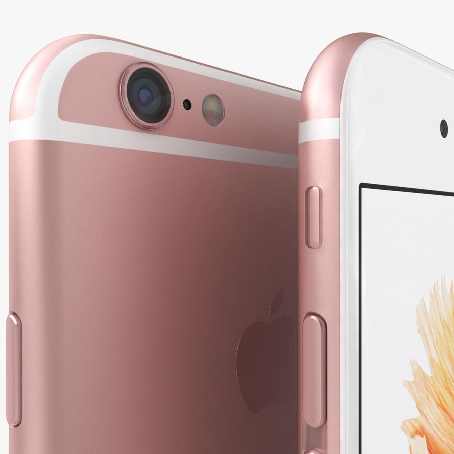 iPhone 6S Rose Gold royalty-free 3d model - Preview no. 4
