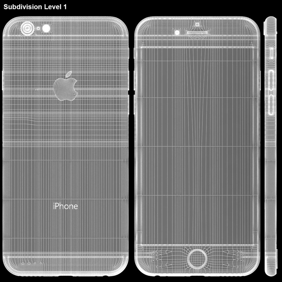 iPhone 6S Prateado royalty-free 3d model - Preview no. 28