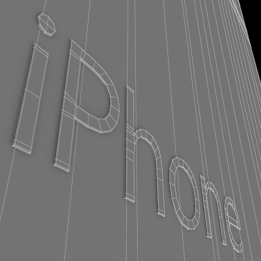 iPhone 6S Prateado royalty-free 3d model - Preview no. 24