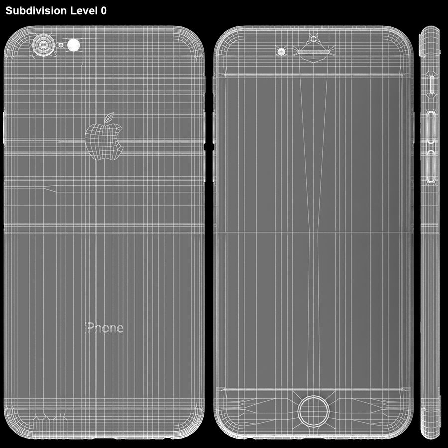 iPhone 6S Prateado royalty-free 3d model - Preview no. 27