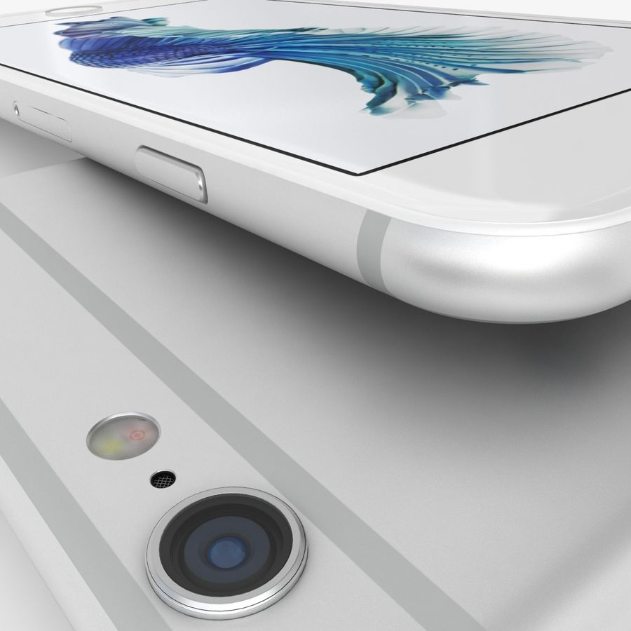 iPhone 6S Prateado royalty-free 3d model - Preview no. 9
