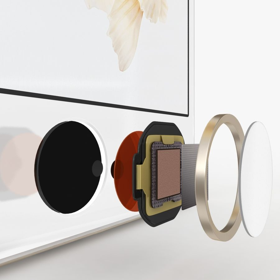 iPhone 6S Gold royalty-free modelo 3d - Preview no. 6
