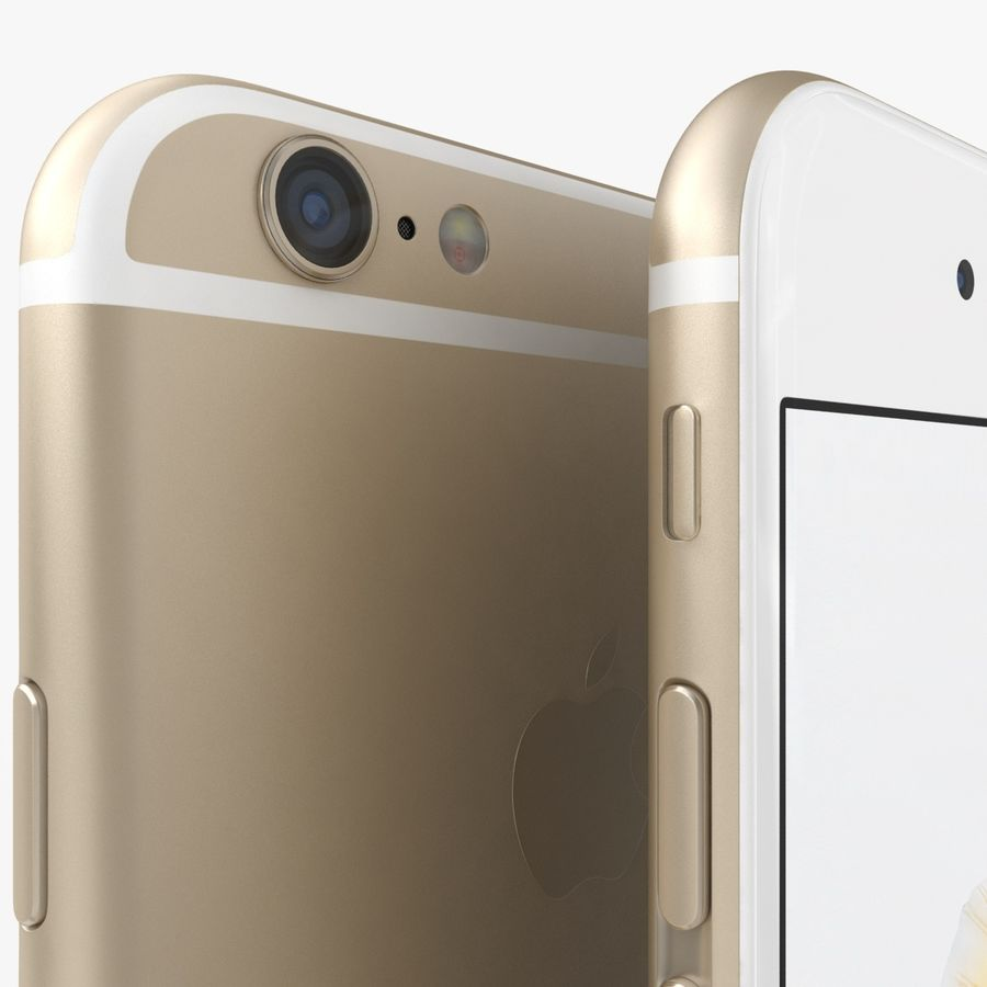 iPhone 6S Gold royalty-free modelo 3d - Preview no. 4