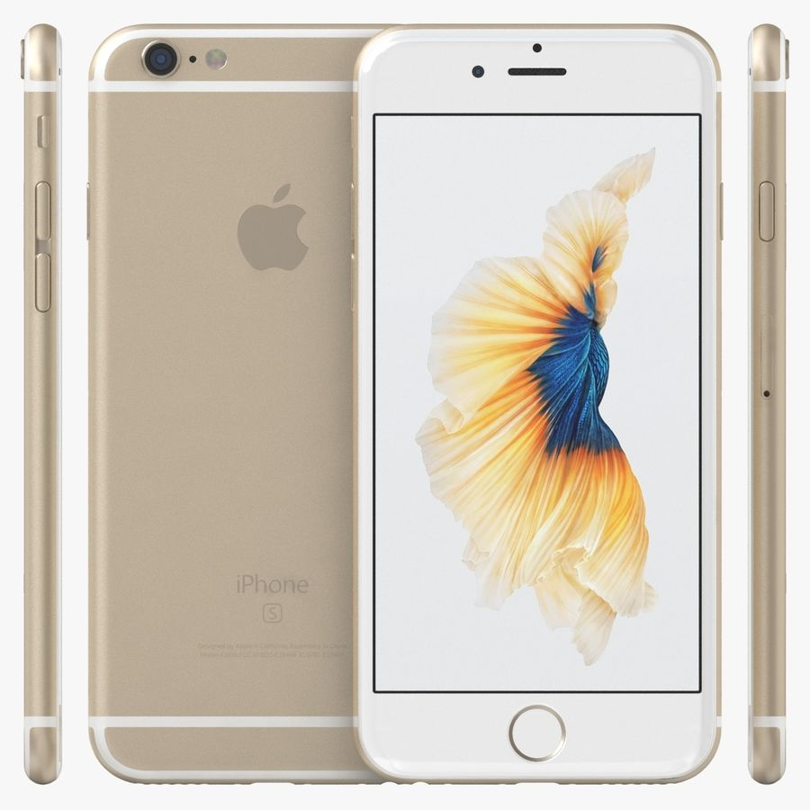 iPhone 6S Gold royalty-free modelo 3d - Preview no. 2