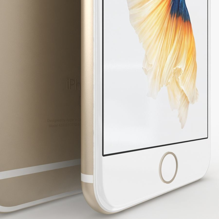 iPhone 6S Gold royalty-free modelo 3d - Preview no. 5