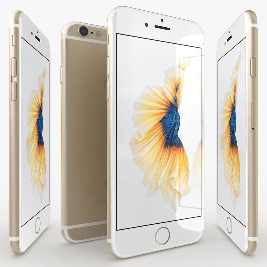 iPhone 6S Gold royalty-free modelo 3d - Preview no. 3