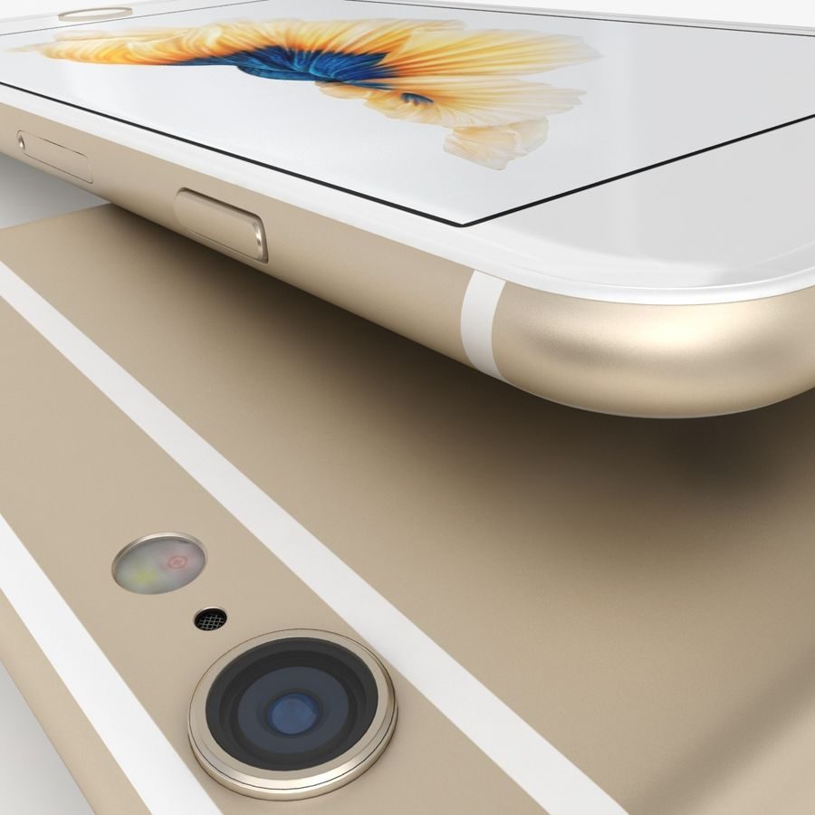 iPhone 6S Gold royalty-free modelo 3d - Preview no. 9