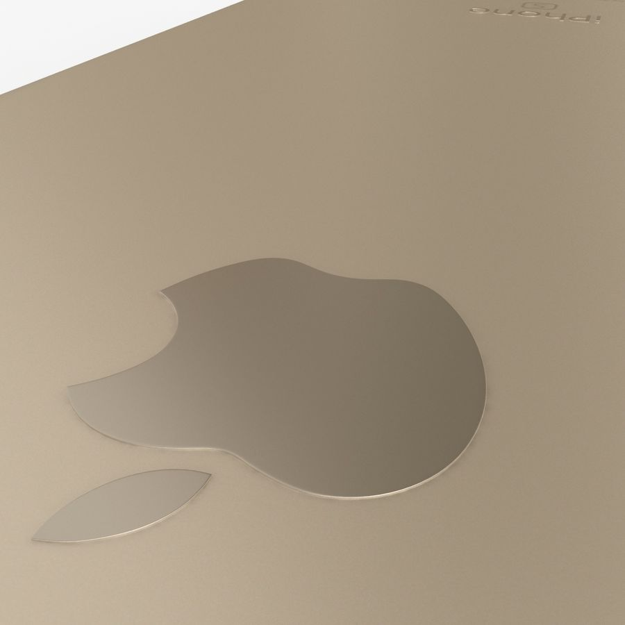 iPhone 6S Gold royalty-free modelo 3d - Preview no. 14