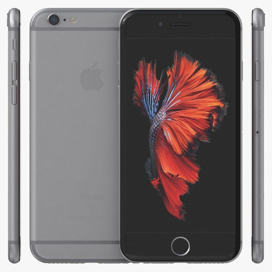 iPhone 6S Espaço Cinzento royalty-free 3d model - Preview no. 2