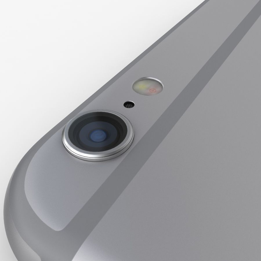 iPhone 6S Space Grey royalty-free 3d model - Preview no. 13
