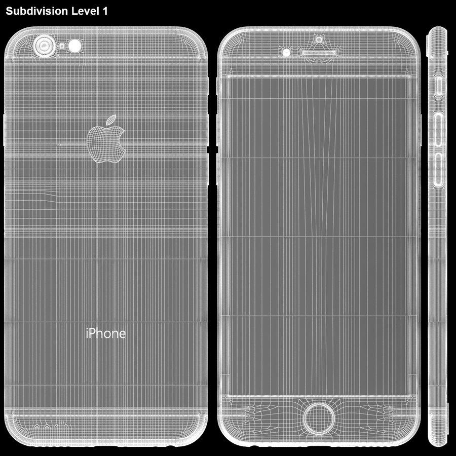 iPhone 6S Espaço Cinzento royalty-free 3d model - Preview no. 28