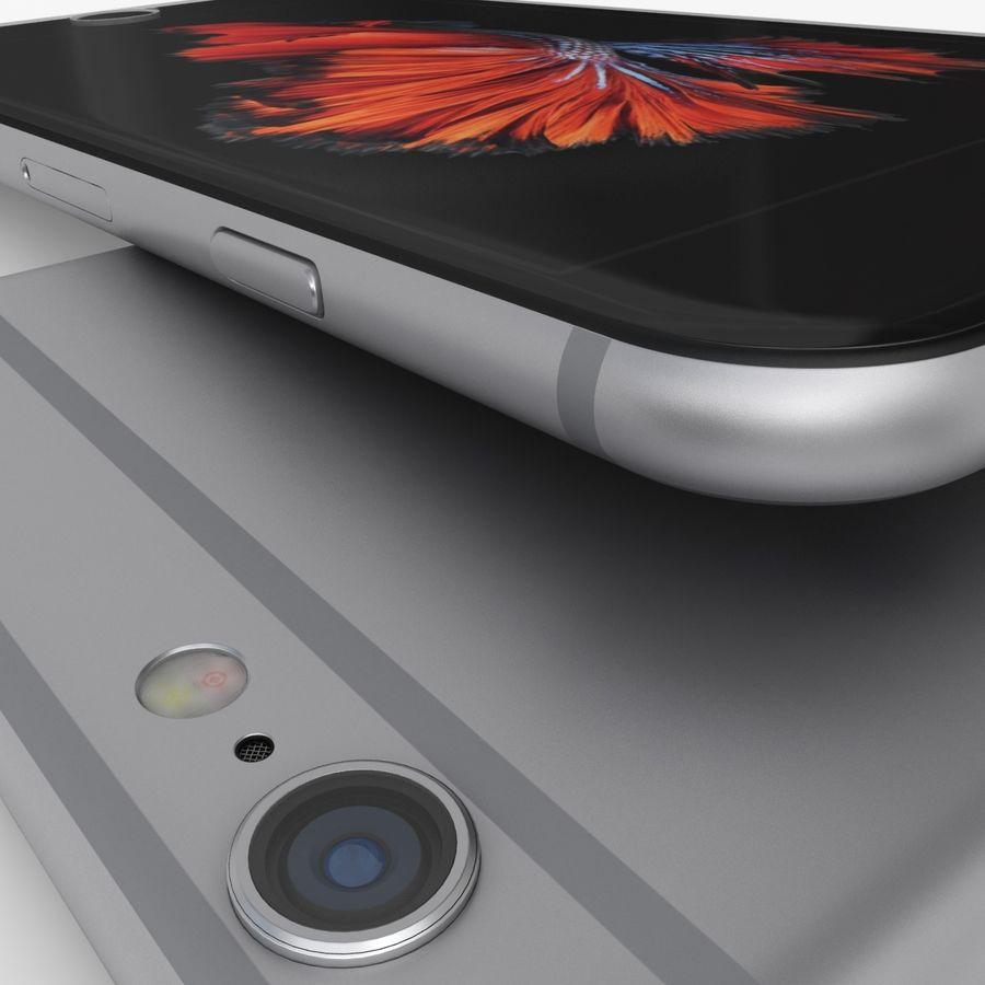 iPhone 6S Espaço Cinzento royalty-free 3d model - Preview no. 8