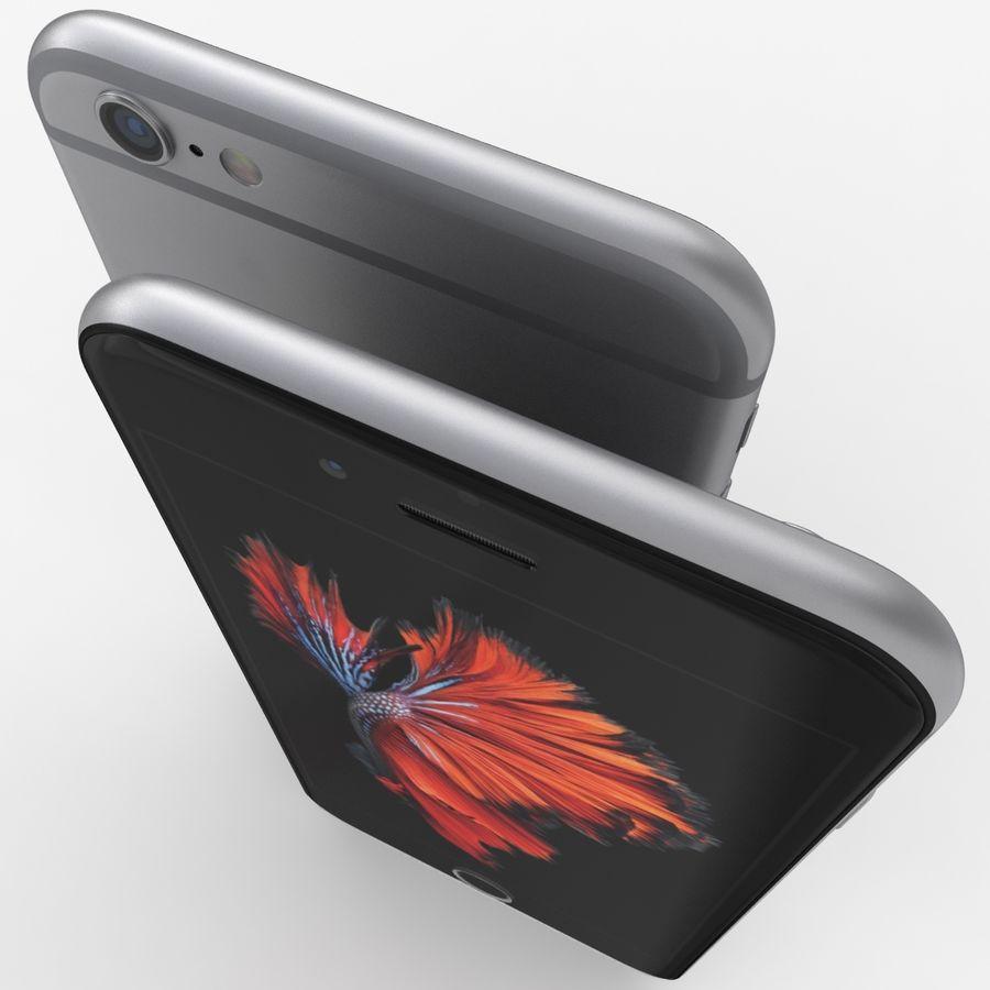 iPhone 6S Espaço Cinzento royalty-free 3d model - Preview no. 7
