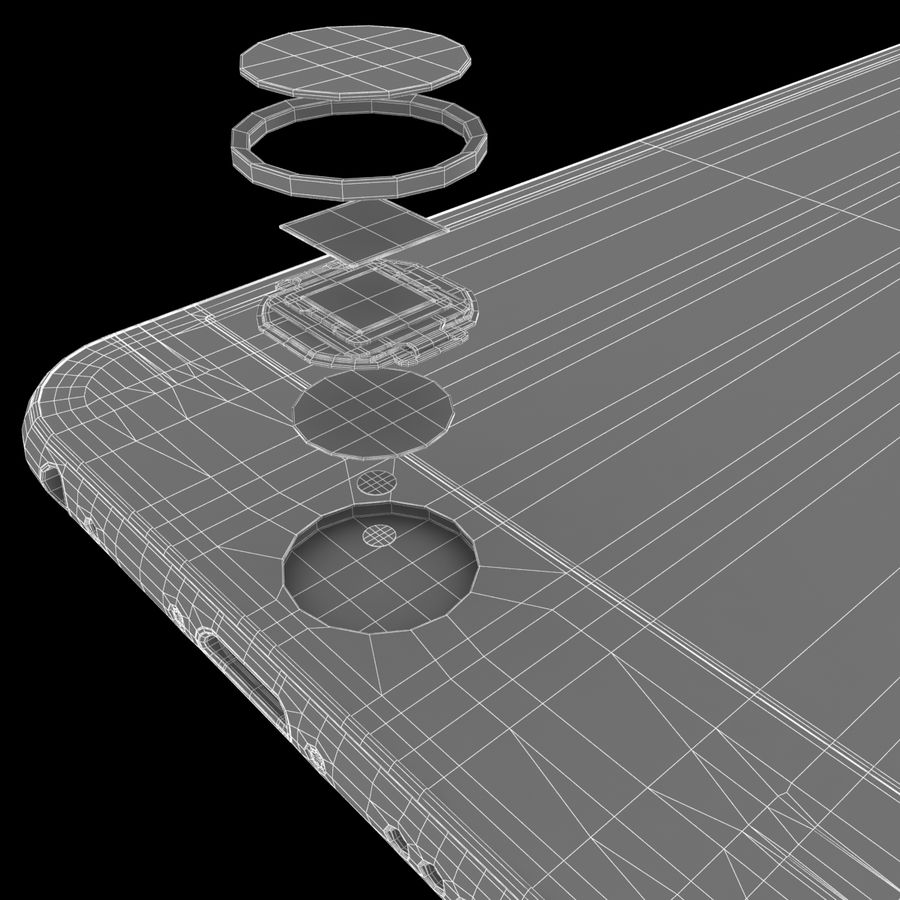 iPhone 6S Space Grey royalty-free 3d model - Preview no. 26