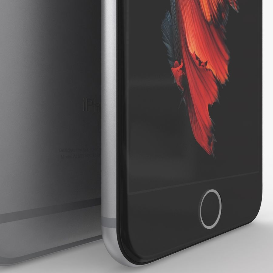 iPhone 6S Space Grey royalty-free 3d model - Preview no. 5
