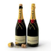 шампанское 3d model