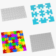 Set di puzzle 3d model