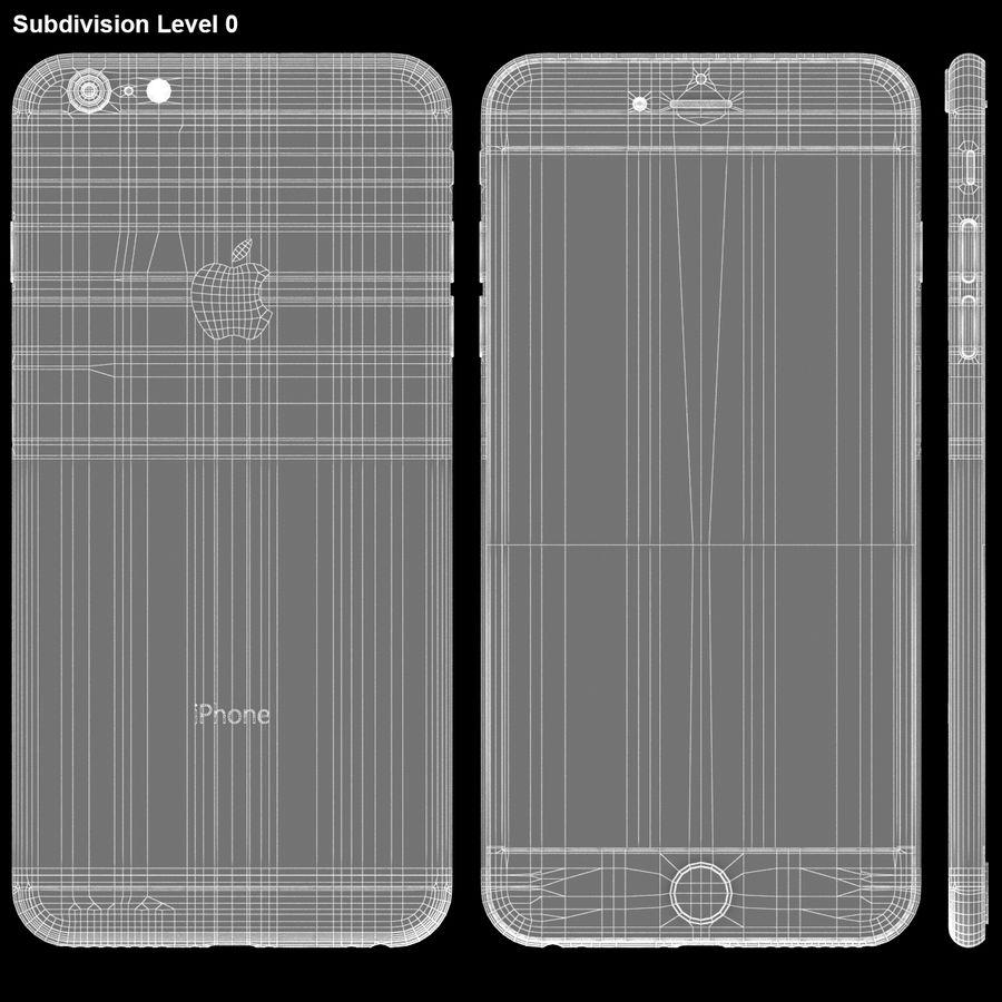 iPhone 6S Plus Prateado royalty-free 3d model - Preview no. 27