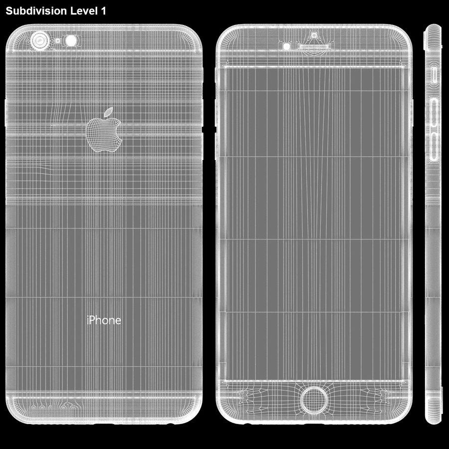 iPhone 6S Plus Prateado royalty-free 3d model - Preview no. 28