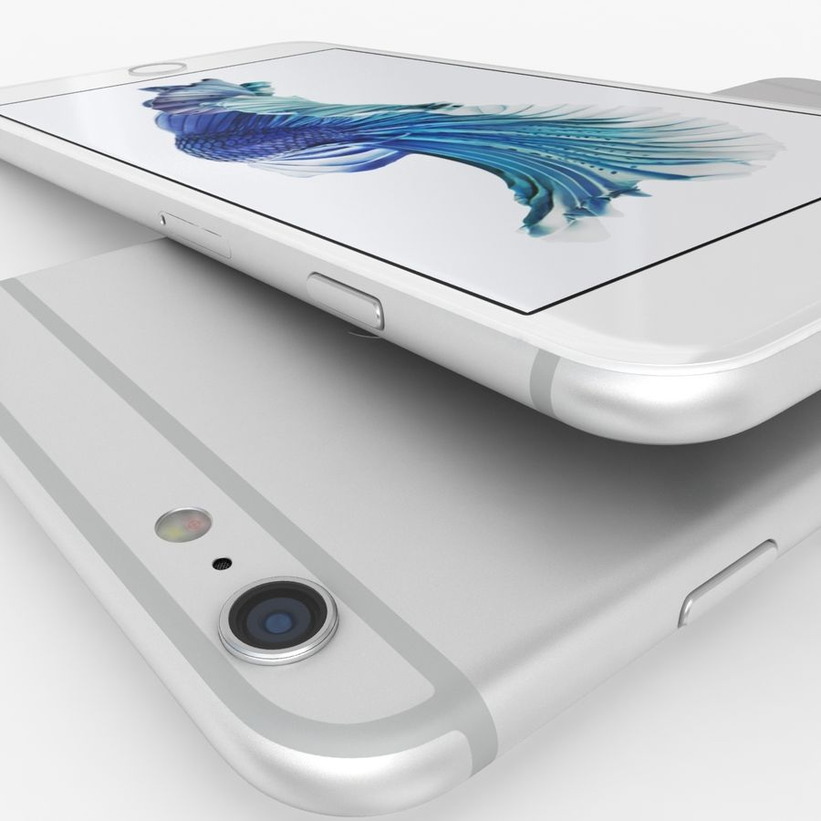iPhone 6S Plus Prateado royalty-free 3d model - Preview no. 9
