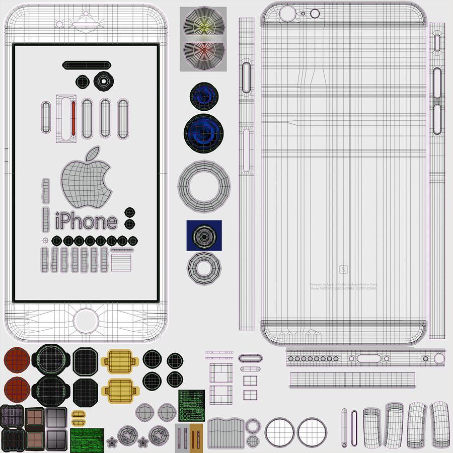 iPhone 6S Plus Prateado royalty-free 3d model - Preview no. 30