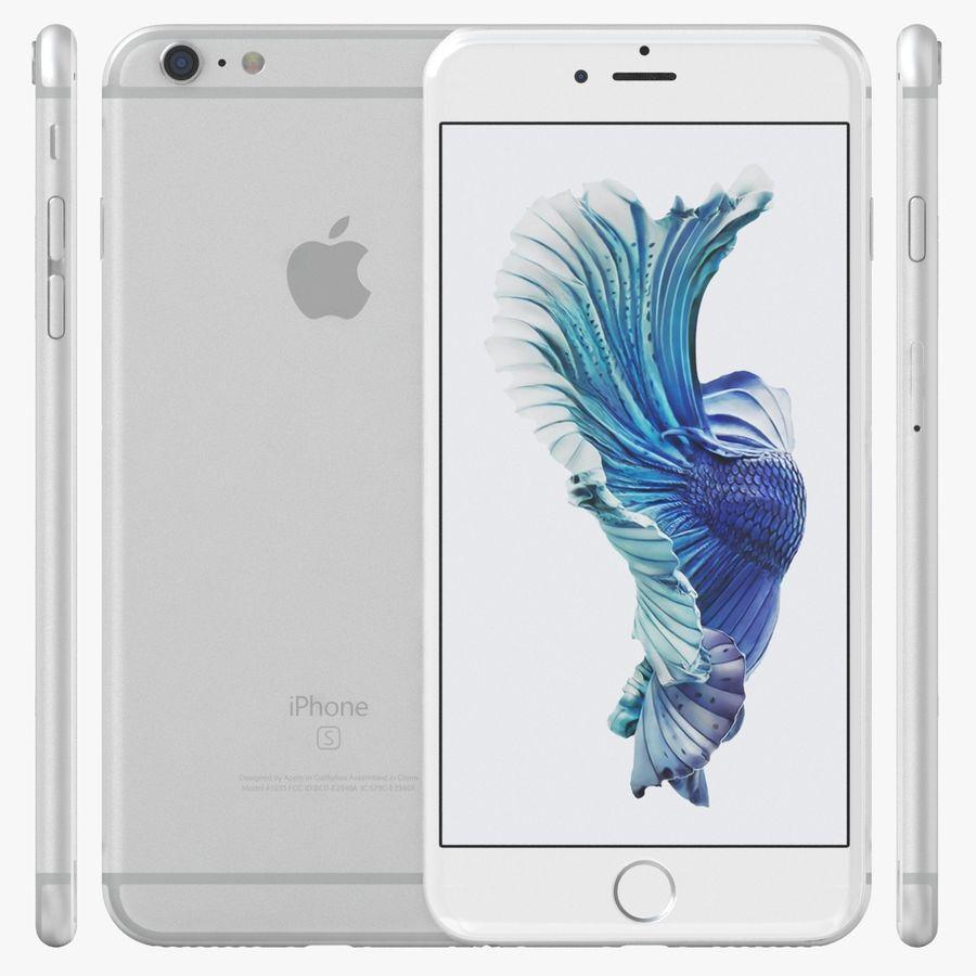 iPhone 6S Plus Prateado royalty-free 3d model - Preview no. 2